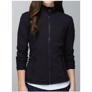 Lululemon Forme Jacket Solid Black Zip-Up Size 2